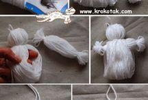 bamboline di lana