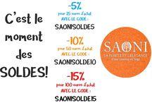 Offres, concours, promotions, soldes SAONI boutique