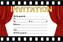 Anniversaire ID carte invitaion