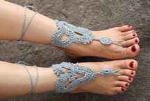 Crochet sandalias