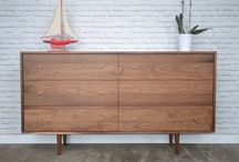 Our work - Dressers / Solid wood pieces with plenty of space for all your belongings. We make handcrafted pieces influenced by Danish Modern style, but also heavily inspired by the vintage, minimalist aesthetic of downtown New York and Brooklyn. Made with love in NYC.