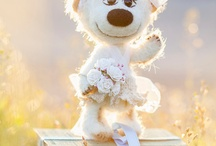 Wedding Teddy Bears / Wedding Teddy Bears , wedding gift , gift for wedding , gift for wedding officiant, anniversary gift , bride and groom frame