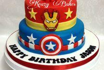 Gâteau à thème super-héros
