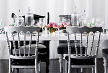Clean and Chic / Loving the clean lines and modern simplicity black & white provide!