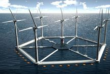 wind power combine with wave power combine with solar panel and do not forget give warning dangers