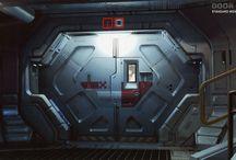 sci fi door