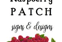Raspberry Patch Signs & Designs / Raspberry Patch Signs & Designs :: Handprinted signs, repurposed furniture and so much more