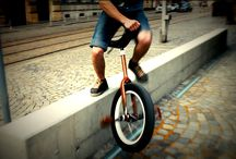 Unicycle / I tried to ride a unicycle and I really managed to ride few meters once, but I rather remain just shooting it.