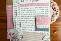 Write letters