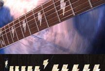 Stickers pour Guitare / collant pour mettre sur les frettes des guitare Électriques/Acoustique/Bass etc.
