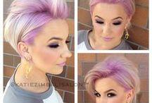 short colourful hair