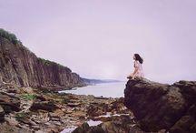Mood board – lonely sea