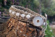 braceletes em corda