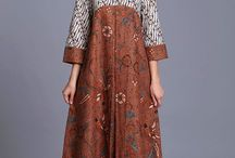 dress batik beda warna