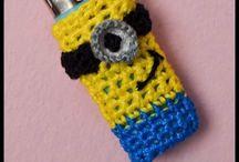 Hoodiegan crochet lighter cases