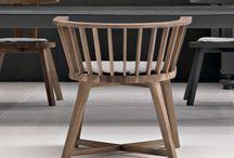 Eettafelstoel / Houten stoel gervasoni
