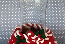 Déco pour vase de noel