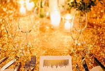 Glam Wedding Inspiration / I always thought it would be fun to have a glamorous movie star wedding! Ideas and inspiration for all that is gold, glitter, and glam.