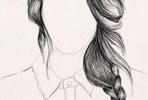 illustrating hair