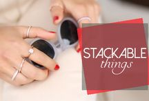Stackable Rings / Stack, separate and wear with your other rings to create a new combination every time you wear them.