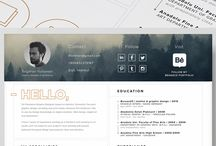 Resume & Collateral Template Design / Resume / Marketing collaterals layout designs and inspirations