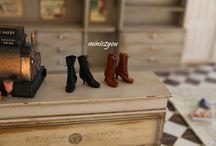 Miniature dress-boots-hats etc.