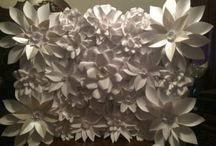 große papierblumen