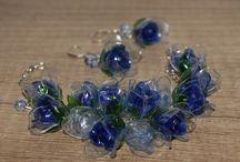 Moje práce- Autorské šperky z PET lahví - Věra Bělinová / Tvořím šperky z recyklovaných PET lahví
