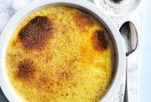 Dessert crème brulee