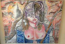 Art by calore matteo  / Olio e spray su tela