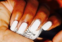 White nails / White nails with a hint of colour