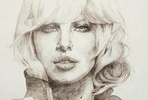 Kresby/ Drawings by Daniel Boris / Kresby ceruzou, pastelkou...