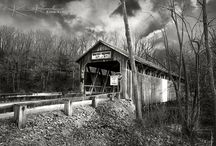Historic Whites Bridge - Michigan / Images of the historic Whites Bridge in Ionia County, Michigan before it was burned down in 2013
