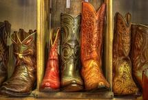 boots; biker en western style