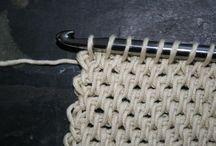 Tunisian knitting