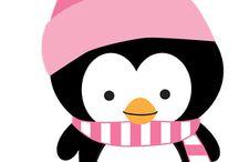 Clásicos de pingüino de Navidad