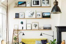 art on shelves / by allaboutvignettes.blogspot.com