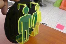 señalizacion, señaletica tecnica y creativa de ACRILATTO  diseño bogota