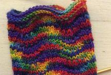 Socken mit Wellenmuster