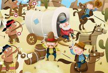 Cowboy's en Indianen