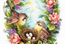 ptáci s hnízdem