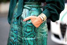 #Python's the new #Leopard #trend #2012 / To keep = Python  To delete = Leopard   It be real python, printed or colored : use & abuse ... but avoid total look ! / by Coach MyStyle