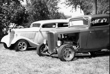 black & white hot rods / by joe armstrong