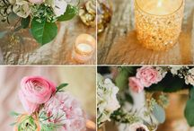 Everything's Rosy / Dream wedding colours (and some ideas I used at my own wedding).