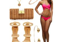 BikiniLuxe Inspiration Board / The Luxury Swim Collection by Colombian born Mauricio Esquenazi. This Swimwear collection features the top selling Peixoto Bella Bikini top and the Peixoto Flamingo swimsuit that have been featured in Cosmopolitan and Sports illustrated. http://www.bikiniluxe.com