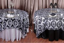 Table Overlay Rentals / Accent your table with an elegant table overlay.  Numerous colors, sizes, and fabrics.