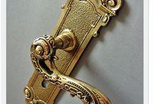 Klamki mosiężne - Brass door handles / Mosiężne klamki odlewane ręcznie Polskie rzemiosło Hand-Made