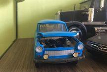 1/24 Trabant turbo scale model car revell / 1/24 scale model revell kit. Rebuilding.