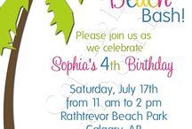 Beach party invites
