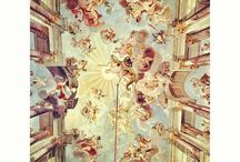Illusionistic ceiling painting